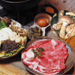 篠山牛と丹波篠山松茸のすき焼き